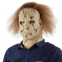 Scary Michael Myers Mask Horror Movie Halloween Cosplay Adult Latex Party Mask Latex Killer Michael Myers Mask Full Head Mask