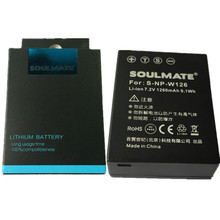 SOULMATE NP-W126 NPW126 lithium batteries NP-W126 For Fujifilm HS30EXR HS33 X-Pro1 X-E1 X-M1 X-A1 X-T1 Digital Camera Battery