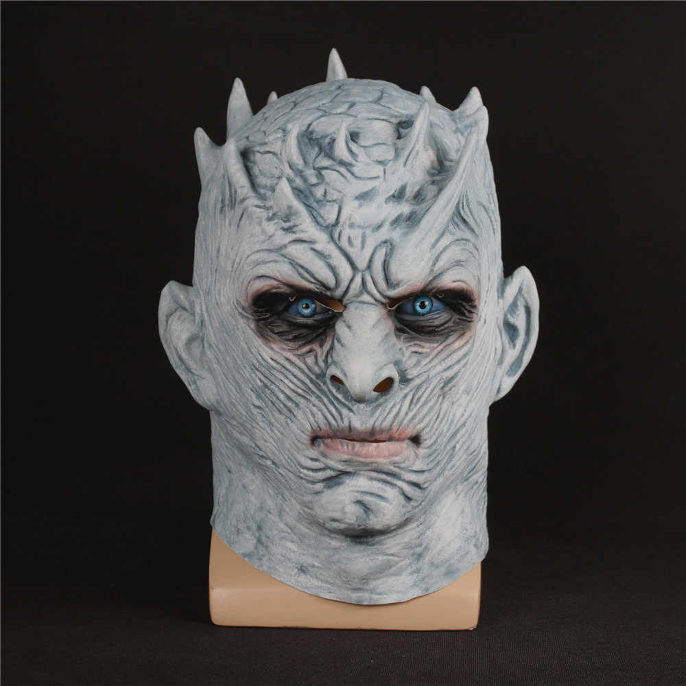 Game Of Thrones Season 7 Cosplay Night's King Mask Horror Walker Face NIGHT RE Zombie Latex Mask Halloween Party Cosplay Prop