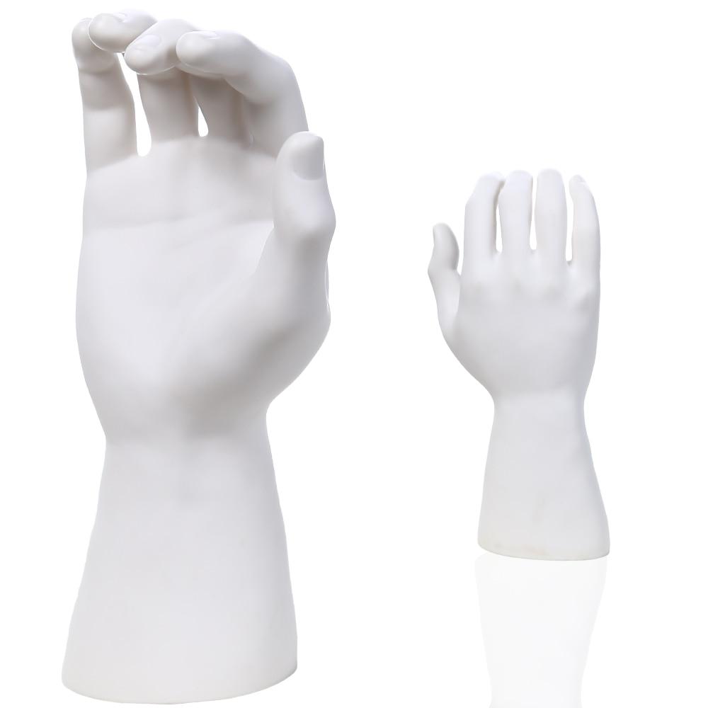 High Quality White PE Male Mannequin Hand För Watch / Handskar Display, Manikin Hands