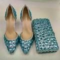 Fashion Sky blue luxury rhinestone evening bags banquet Diamonds woman day clutch new arrive female handbag bridal evening bag