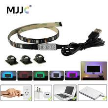 USB LED Strip Light TV Backlight 5V Waterproof RGB SMD 5050 LED Ribbon Tape Lights for the Computer PC Decoration Lighting