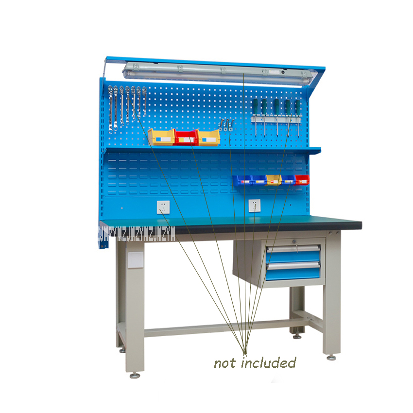 QG-GZT003 Heavy Workshop Antistatic Operating Platform Stainless Steel Test Maintenance Workbench With 920mm Hanging Board