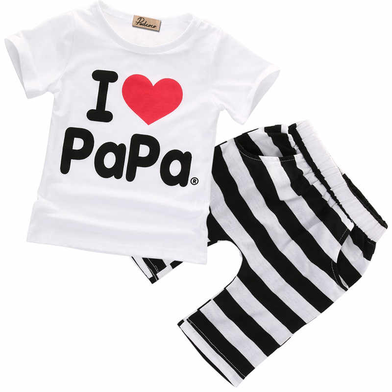 d4f984cf27b42 2018 New 2PCS Toddler Infant Newborn Twins Baby Boy Girls Casual T shirt  Tee Striped Pants Outfits Pajamas Suit Clothes