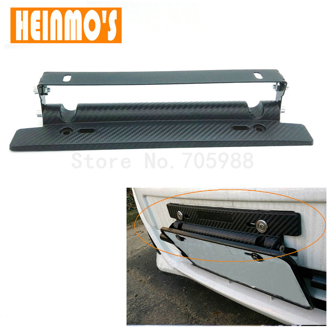 New JDM Adjustable Carbon Fiber Style Registration Plate Holder Tilt ...
