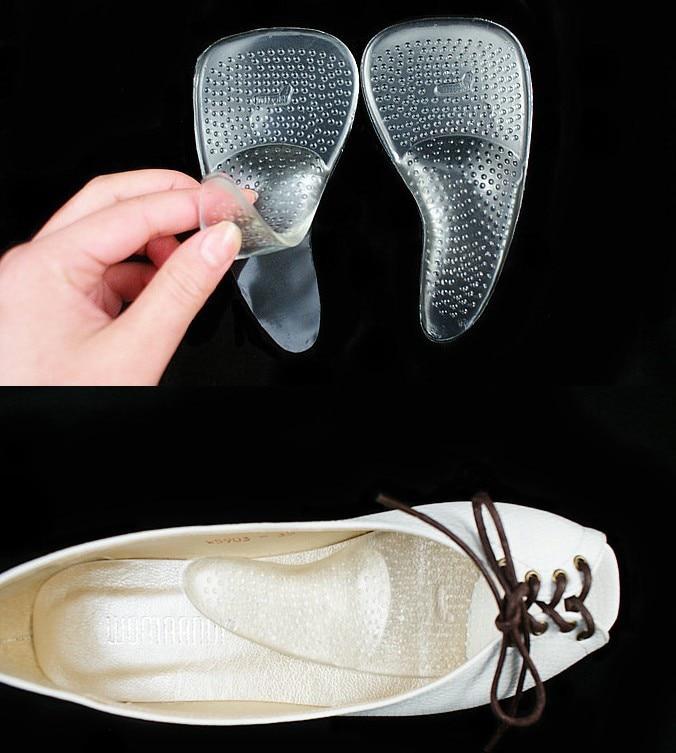 d4978f6d4e Women Silicone Gel High Heels Arch Support Shoe Inserts Pad Orthopedic  Orthotics Flat Foot Correct Shoe
