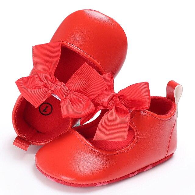 6ad69ddc346ef Rouge bébé chaussures bébé fille robe Ballet fête Mary Jane enfant en bas  âge princesse PU