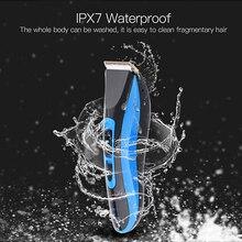 Профессиональный триммер для волос, водонепроницаемый набор для ухода за волосами, Влажная/сухая быстрая перезаряжаемая Мужская машинка для стрижки волос, бритва, машинка для стрижки волос P34