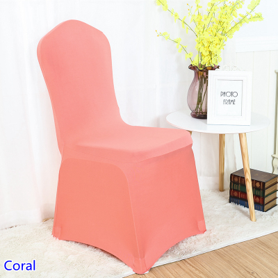 Astonishing Us 1 6 Colour Coral Lycra Chair Covers For Wedding Banquet Chair Decoration Spandex Stretch Party Chair Cover Wholesale In Chair Cover From Home Andrewgaddart Wooden Chair Designs For Living Room Andrewgaddartcom