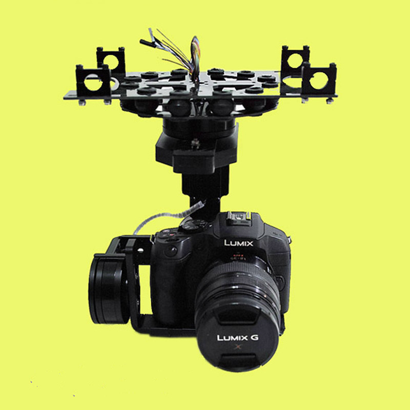 Universal 3 Axis 5D 3D 2 Gimbal PTZ DSLR ILDC Camera Pan Tilt Brushless For FPV Aerial Photography Air Survey - 3