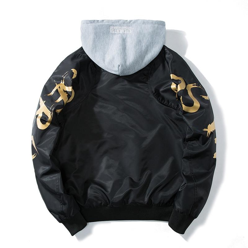 Mens And Woman Jacket Japan Hooded Bomber Jacket Fashion Print Outwear Men's Clothes Thin Coat Baseball Jackets Detachable Cap
