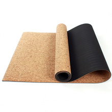 Yhsbuy 3 мм/4 мм/5 мм/6 мм/8 мм Спортивный Коврик для йоги из пробки натуральный резиновый коврик для йоги TPE Фитнес нескользящая упражнения пилатес тренировки, HB025