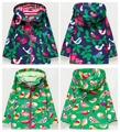 Girls clothing child windproof waterproof outdoor jacket outerwear trench summer thin