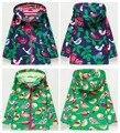Meninas roupas criança à prova de vento impermeável ao ar livre jaqueta outerwear trincheira verão fina