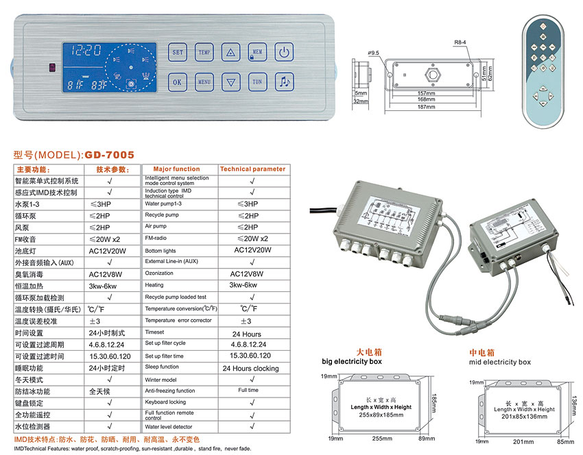 GD7005 second control box with Circuit board which connect control ...