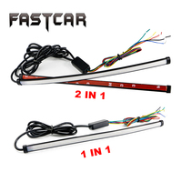 Car Flexible Switchback LED Knight Rider Strip Light For Headlight Sequential Flasher DRL Flowing Amber Yellow