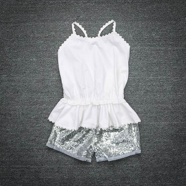 Infant Clothing Set Newborn Baby Summer Backless T-shirts+Sequins Shorts Cotton Sets Toddler Girl Clothes 0-4T T169