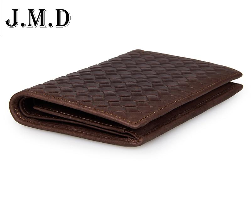 все цены на  2015 New casual men wallets men 100% Genuine Leather  Weave Leather Vertical Mens Bifold Wallet Purse  онлайн
