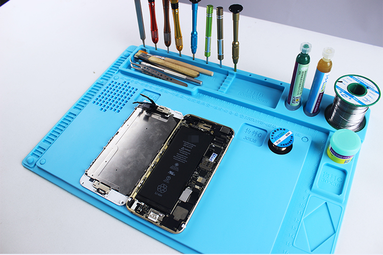 ESD Heat Insulation Working Mat Heat-resistant BGA Soldering Station Repair Insulation Pad Insulator Pad Maintenance Platform 2 in 1 heat resistant soldering mat