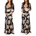 Frauen Wraped Geraffte Mutterschaft Kleid Blume Gedruckt Komfortable V-ausschnitt Verstellbar elegante Kleid Kleid schwangerschaft frau kleidung