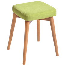 Solid Wood Simple Style Dining Stool Household Dressing And Makeup Multifunction Wooden Square Change Shoe Bench