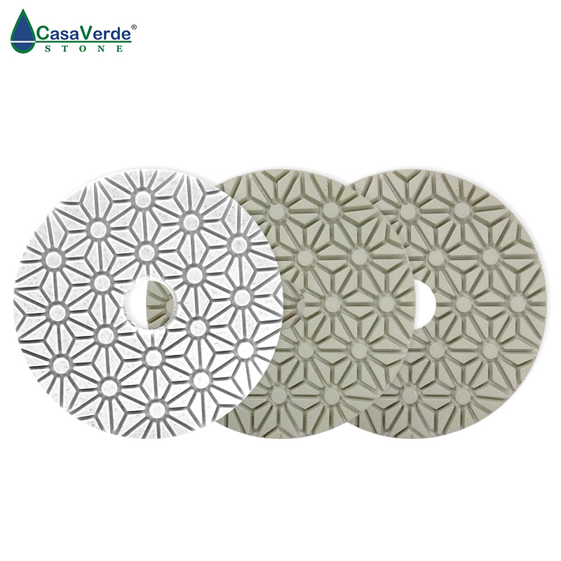 DC-SFW3PP01 4 inch D100mm resin and diamond wet 3 step polishing pads for stone/concrete люстра reccagni angelo pl 5670 5