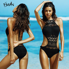 Yisima One Piece Swimsuit 2019 Swimwear Women Black Lace Bodysuit Push Up Monokini Swimwearbikini swimsuit one piece new XL
