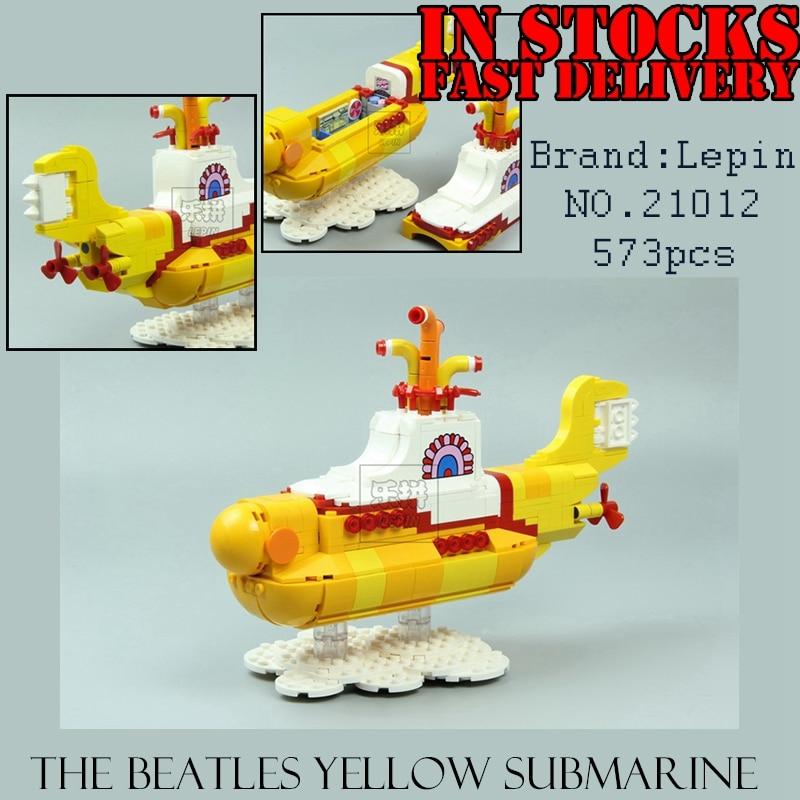 Lepin 21012 The John Winston Lennon Paul McCartney Harrison Ringo Starr Submarine Building Blocks Models Toys paul mccartney the biography