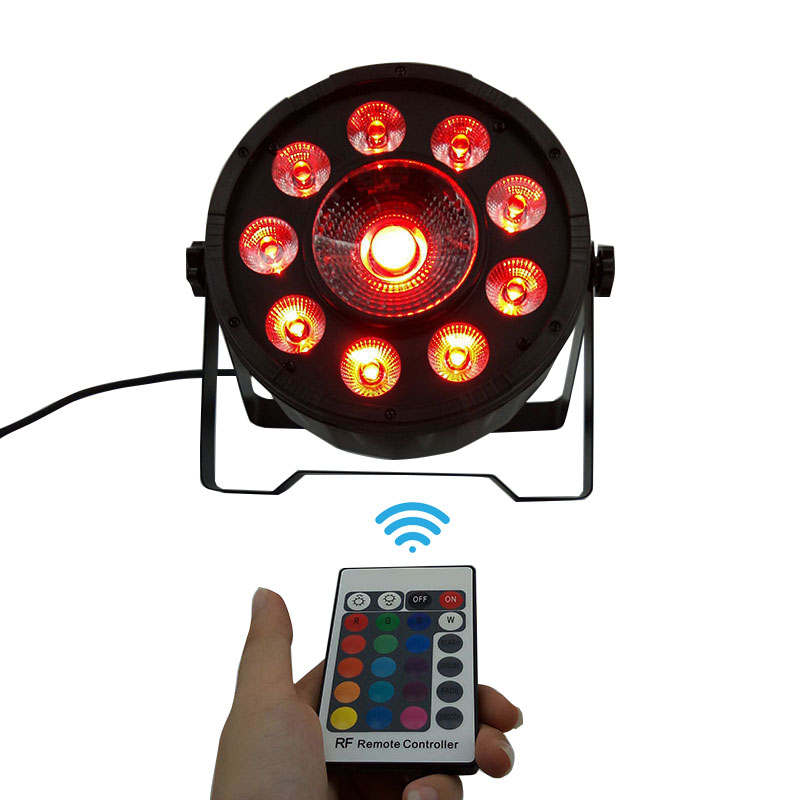 Wireless remote control American DJ LED 9x10W+30W RGB 3IN1 LED DJ Wash Lighting for Disco DJ Party Free shipping