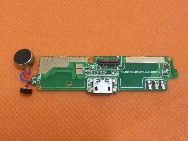 """Original USB Cargador de a Bordo + vibración + Micrófono Para ZOPO ZP980 C2 5.0 """"1080 P FHD Pantalla MTK6589 Quad núcleo del envío libre"""
