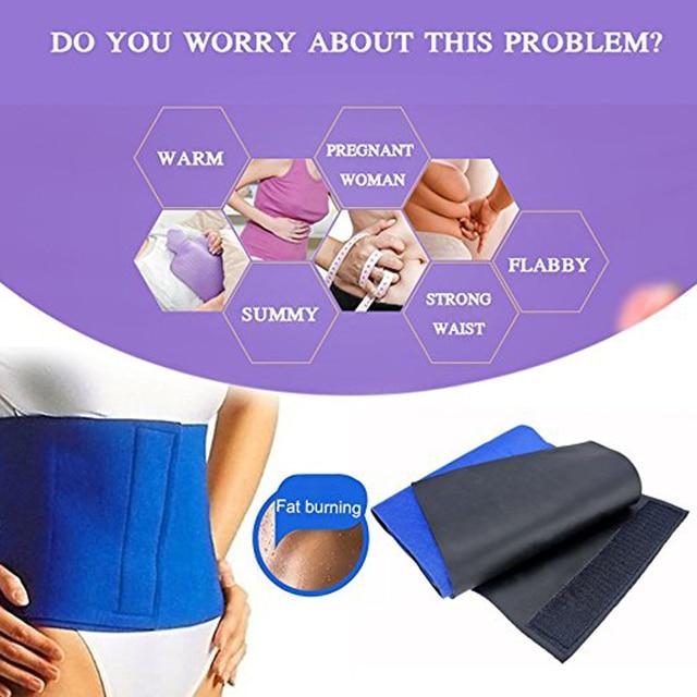 1Pcs Waist Trimmer Belt for Women Men, Sweat Workout Fitness Waist Trainer Weight Loss Adjustable Belt Belly Body Exercise Wrap 3