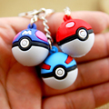 1PCS Cartoon Pokemon Pikachu Elf Ball Cell Phone Strap JINGLE BELLS Dangle Charms Key chains Trendy Children Gifts