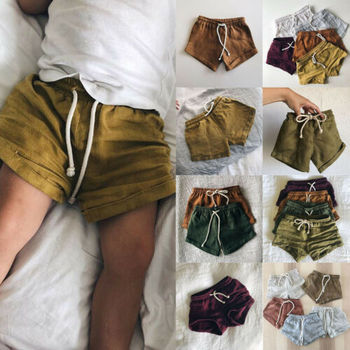 PUDCOCO Infant Kids Harem Pants Cotton& Linen Shorts Newborn Baby Boys Girls Short Trousers PP Pants Diaper Covers Bloomers 0-3T
