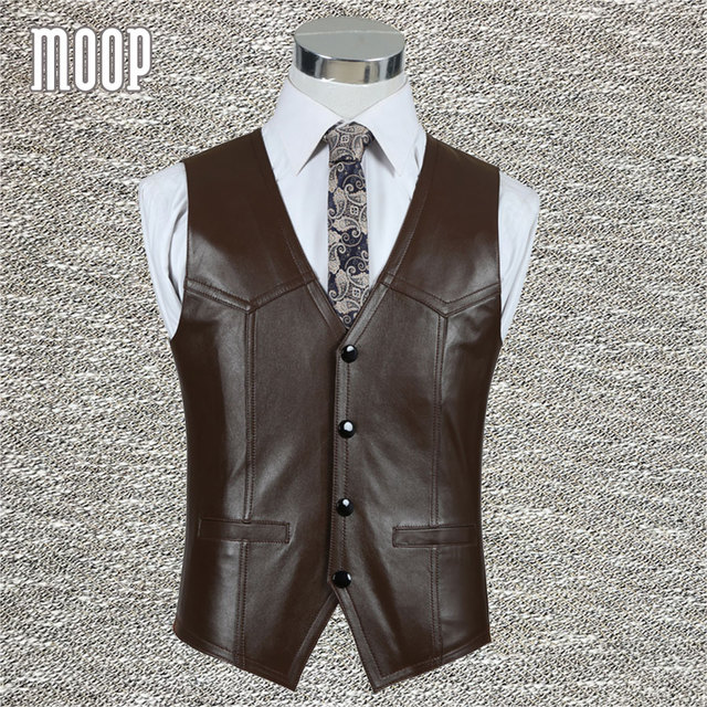 Black brown genuine leather vest 100% lambskin leather jacket men waistcoat business coat chaleco hombre colete LT602 Free ship