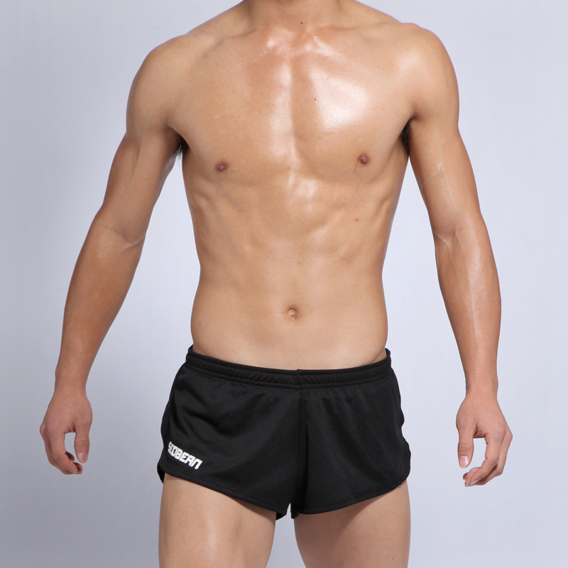Men's Workout Gym Shorts Loose Sports Shorts Polyester Running Breeches 2 In 1 Jogging Sportswear Male Training Trunks