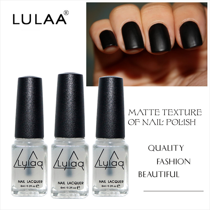 Lulaa New Gel Frosted 6ml Nail Polish Magic Super Matte Transpa Nails Art Surface Oil High Quality Made In From Beauty
