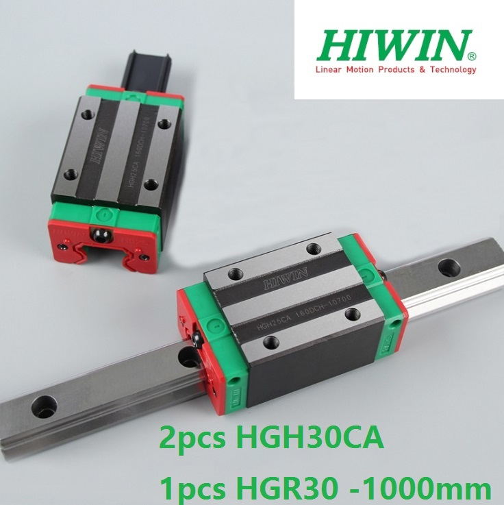 1pcs 100% original Hiwin linear guide rail HGR30 -L 1000mm + 2pcs HGH30CA narrow block for cnc 1pcs 100% original hiwin linear guide hgr30 l 300mm 1pcs hgh30ca narrow block for cnc router