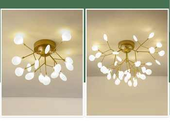 Modern gold /black LED Ceiling Chandelier Lighting Living Room Bedroom Chandeliers Creative Home Lighting Fixtures AC110V/220V