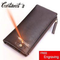 Men Wallets Genuine Leather Wallet Business Designer Purse Male Clutch Bags With Money Luxury Brand Long