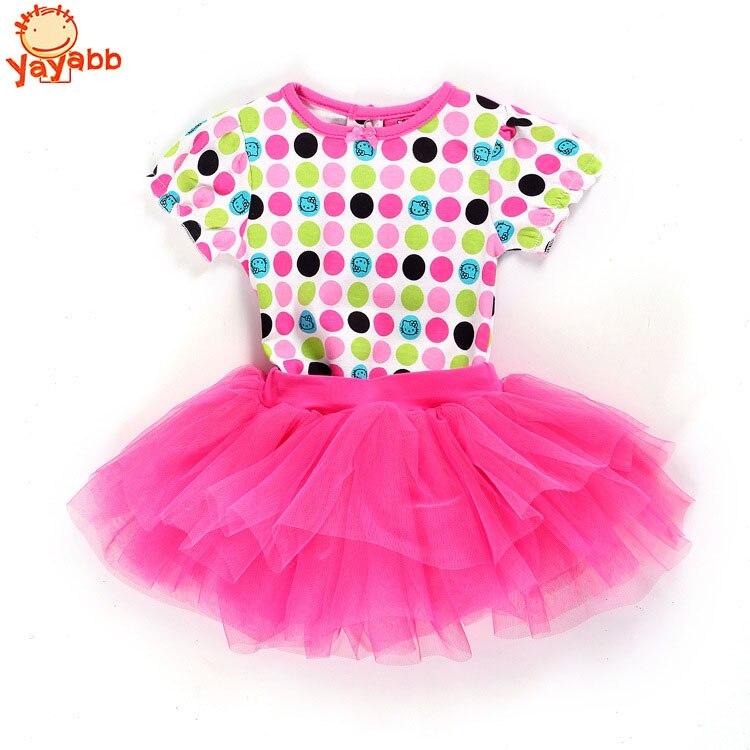 2016 New Fashion Newborn Baby Girl Dress Set 2Pcs Baby Romper+Tutu Skirt Infant Bebe Vestidos Baby Girls Clothing Sets