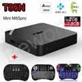 T95N Mini M8S Pro M8Spro Android 6.0 TV Box S905X Quad Core Kodi 16.0 2G 8G Smart Set Top Box 4K H.265 i8 Mini Keyboard Backlit