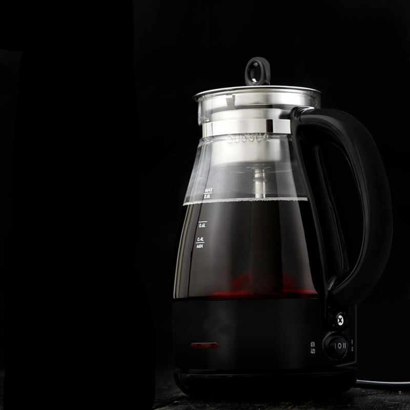 Czajnik elektryczny biuro parzonej herbaty ware czarny szkło pełne automatyczne pary o małej pojemności czajniczek Anti-suche ochrony