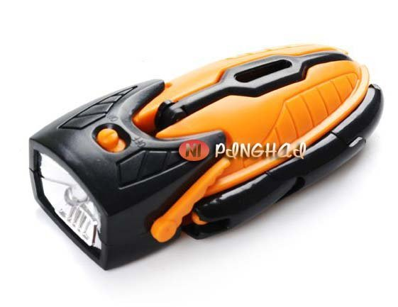 LED deformation Flashlight LED Lamp Robot LED flashlight+FREESHIPPING