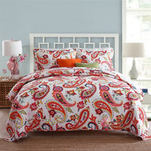 100% Cotton Bedspread Pillow Cases Queen/King Size Soft Bed Cover National Coverlet Set Quilt Summer Comforter Coverlet Set(China)