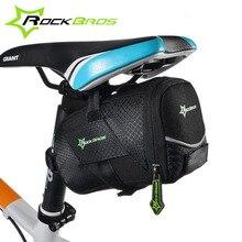 ROCKBROS Waterproof Reflective Large Bicycle Tail Mountain Bike Back Seat Bag Pouch Mtb Bicycle Saddle Bag