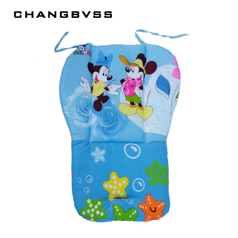 Thick Blue Pink Baby Seat Mat,Infant Stroller Seat Cushion,Baby Stroller Pushchair Mattress,Cartoon Stroller Pad Baby Car Seats double stroller red pink blue color twins infant stroller sale kids sleep comfortable more at ease sophisticated technologies