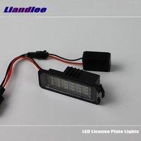 For Skoda Roomster Type 5J 2006 2014 LED Car License Plate Lights Number Frame Light High