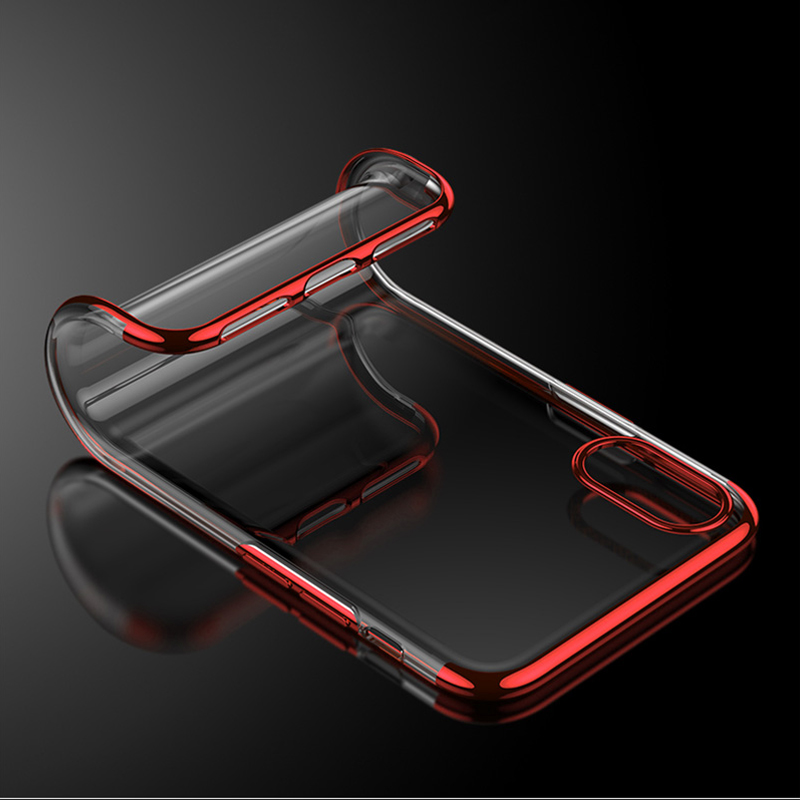 Shockproof Plating Clear Silicone Phone Cases for iPhone 11 Pro MAX XR X XS MAX Soft TPU Cover for iPhone 6 6s 7 8 Plus 10 Logo 3