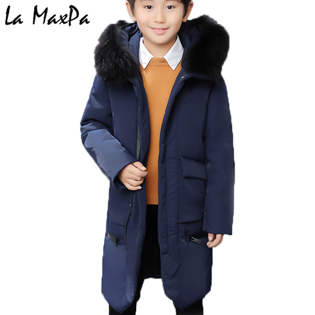Special Price -30 degree Children's Winter Jackets for Boys Snowsuit Duck Down Kids Windbreaker Parka Warm Thick Coat Zip Teenager Outwear