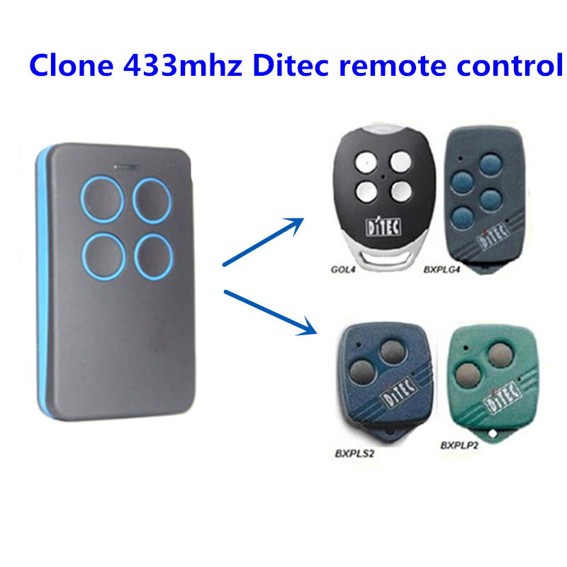 Home Electronic Accessories Selfless Ditec Hand Transmitter Gol4 433,92 Mhz New 4 Command Radio Transmitter Remote Control Pleasant In After-Taste